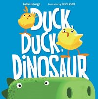 Cover image for Duck, duck, dinosaur