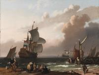 Cover image for Coastal Scene with a Man-Of-War and other Vessels, 1692
