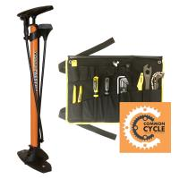 Cover image for Bicycle Floor Pump and Tool Kit.